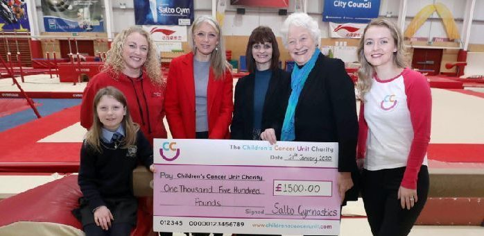 Presentation of cheque for Children's Cancer Unit Charity
